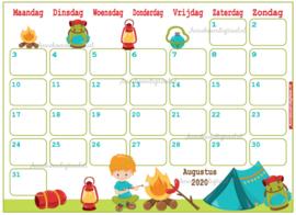 Augustus 2020 kalender serie Jongens