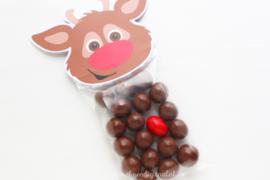 Rudolf traktatie zakje label