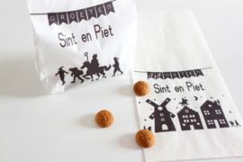 Sinterklaas traktatie boterhamzakjes