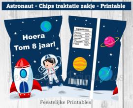 Astronauten chips traktatie zakje
