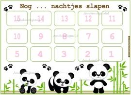 Aftelkalender Panda