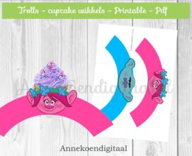 Trolls cupcake wikkels