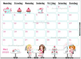 Mei 2020 kalender serie Meisjes