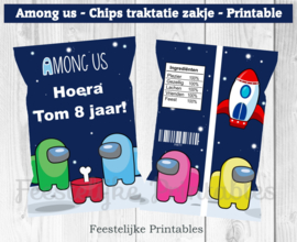 Among us chips traktatie zakje