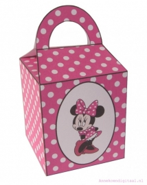 Minnie Mouse Traktatie doosje fuchsia