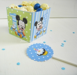 Mickey Mouse 1ste verjaardag snack box