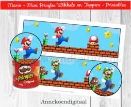 Super Mario Bros Mini Pringles Wikkels