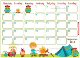 Augustus 2019 kalender serie Mix en Match