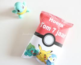 Pokemon chips traktatie zakje