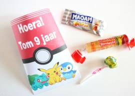 Pokemon snoep traktatie zakje
