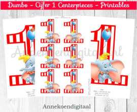 Dumbo cijfer Centerpieces Rood