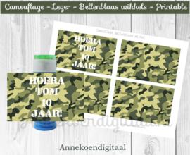 Camouflage Bellenblaas wikkel