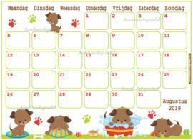 Augustus 2019 kalender serie Jongens