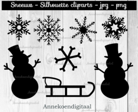 Sneeuw silhouette cliparts