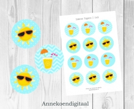 Zomerse toppers 2 inch