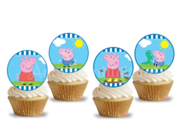 Peppa Pig Toppers 2 inch Blauw