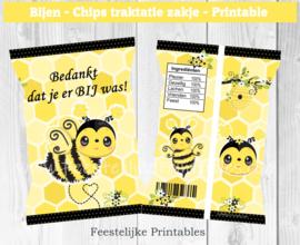 Bijen chips traktatie zakje