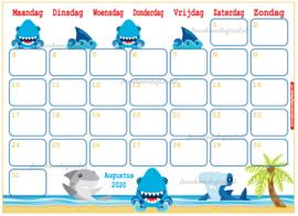 Augustus 2020 kalender serie Dieren