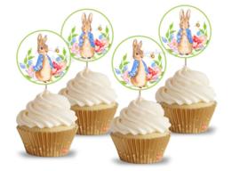 Pieter Konijn cupcake Toppers rond