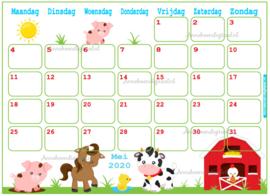 Mei 2020 kalender serie Jongens