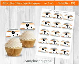 BB-8 Star Wars cupcake toppers