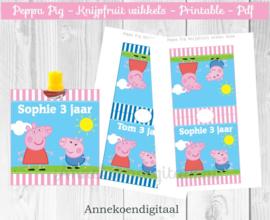 Peppa Pig knijpfruit wikkel