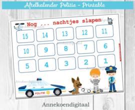 Aftelkalender Politie