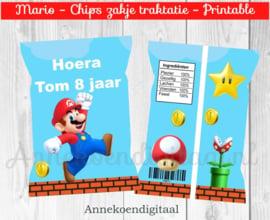 Mario chips traktatie zakje