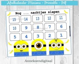 Aftelkalender Minions