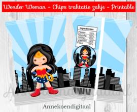 Wonder Woman chips traktatie zakje