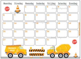 Januari 2020 kalender serie Jongens
