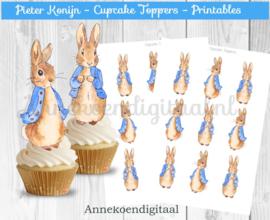 Pieter Konijn cupcake Toppers