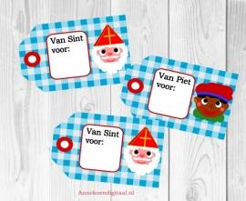 Sint en Piet Kado kaartjes