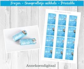 Frozen snoeprolletje wikkels