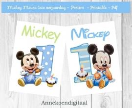 Mickey Mouse 1ste verjaardag posters