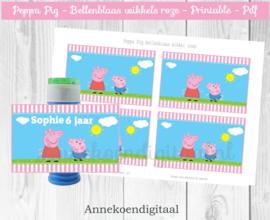 Peppa Pig Bellenblaas wikkel roze