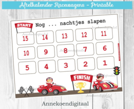 Aftelkalender Racewagens