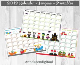 2019 Maandkalenders Jongens - Stoer