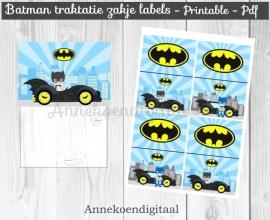 Batman traktatie zakje label