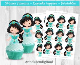 Prinses Jasmine cupcake toppers
