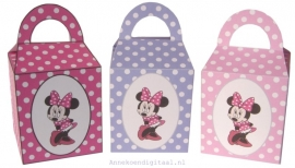 Minnie Mouse Traktatie doosjes Roze, Violet en  Fuchsia