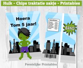 Hulk chips traktatie zakje