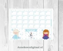 Frozen Aftel kalender