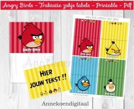 Angry Birds traktatie zakje label