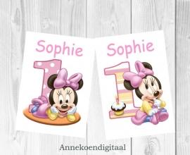 Minnie Mouse 1ste verjaardag posters