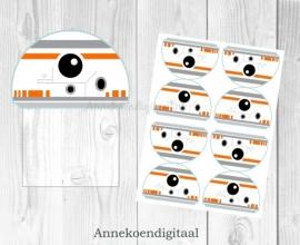 BB-8 Star Wars traktatie zakje label