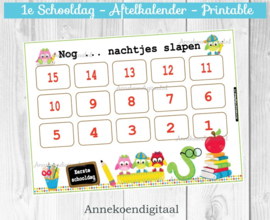 1e schooldag aftelkalender