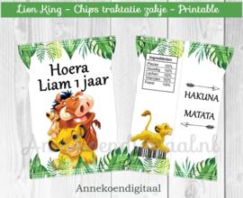 Lion King chips traktatie zakje