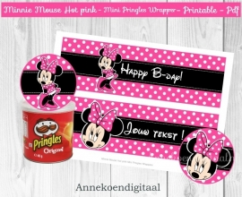 Minnie Mouse Mini Pringles Wikkels