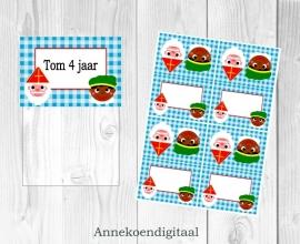 Sinterklaas traktatie zakje label